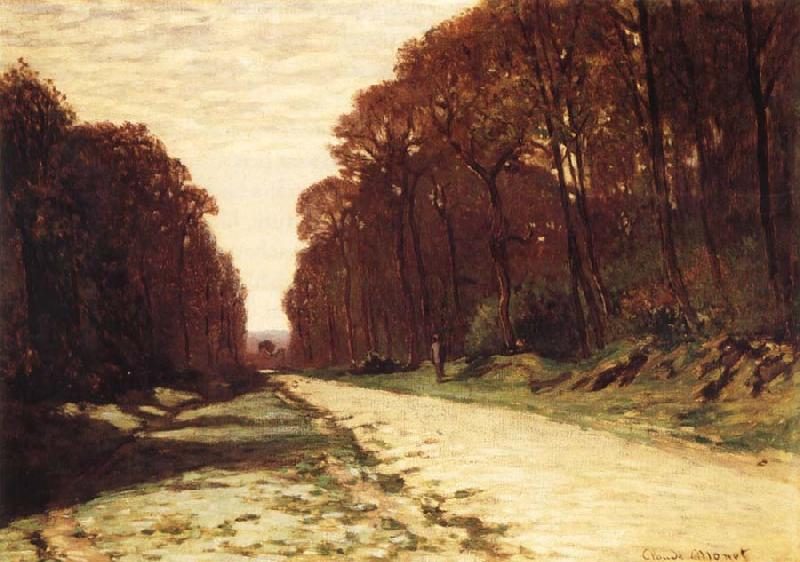 Claude Monet Road in Forest oil painting picture